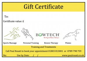 A5 Gift Certificate